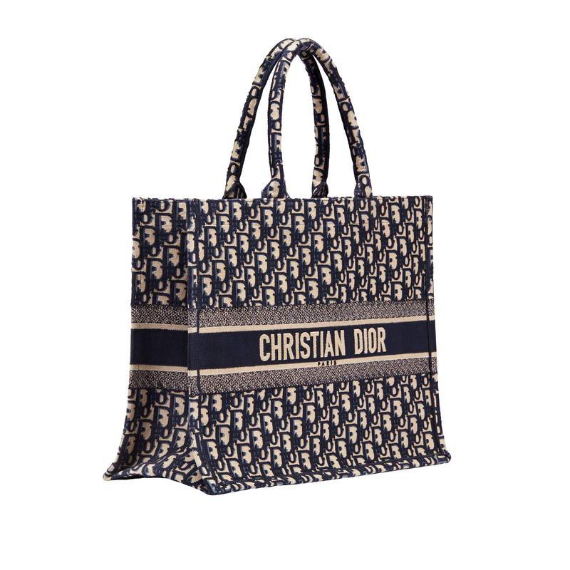 """Dior Book Tote"" bag in Dior Oblique blue embroidered jacquard canvas. – HK$21,500"
