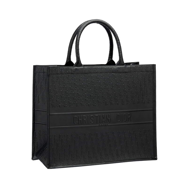 """Dior Book Tote"" bag in Dior Oblique embossed black smooth calfskin – HK$29,500"