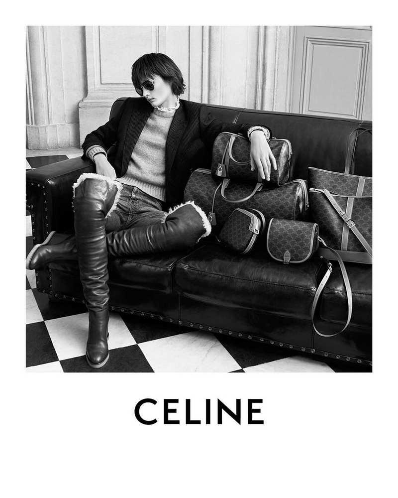 Celine Triomphe Canvas Ava Bag. Resurgence of a vintage style