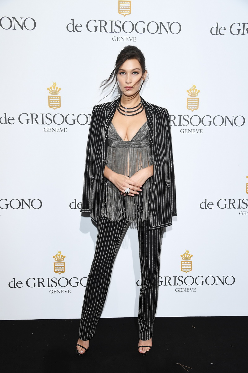 CAP D'ANTIBES, FRANCE - MAY 17:  Bella Hadid attends the De Grisogono Party  at the annual 69th Cannes Film Festival at Hotel du Cap-Eden-Roc on May 17, 2016 in Cap d'Antibes, France.  (Photo by Venturelli/WireImage)