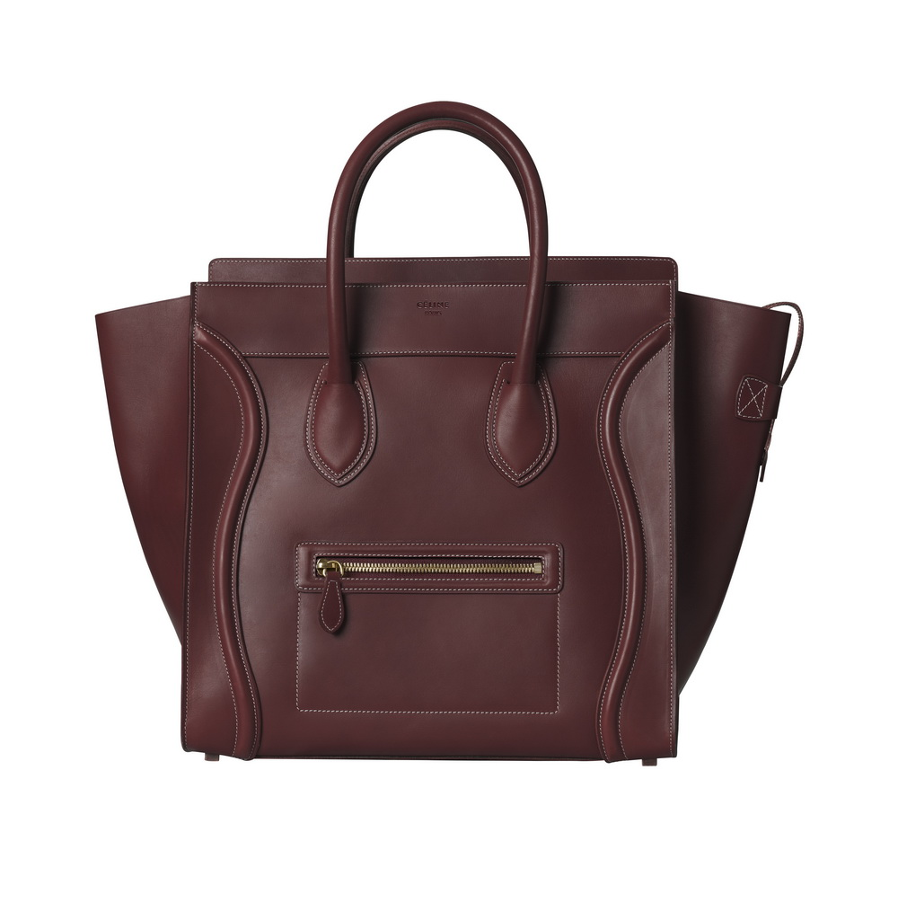 Céline Fall 15_Burgundy Natural Calfskin LUGGAGE $26,000