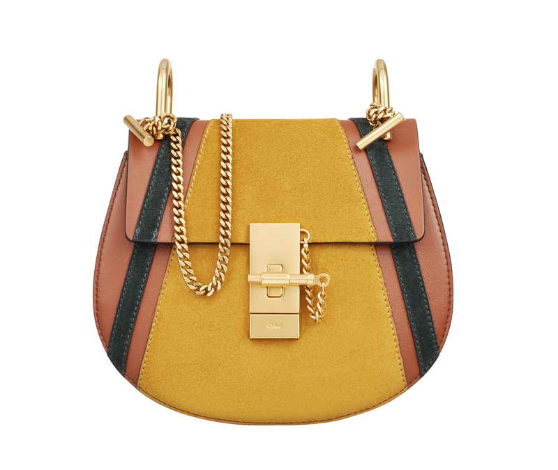DREW Small Saddle Bag in Classic Tobacco with Patchwork in Smooth & Suede Calfskin DREW 啡色拼貼光滑小牛皮及小牛麂皮小手袋 HK$15,460