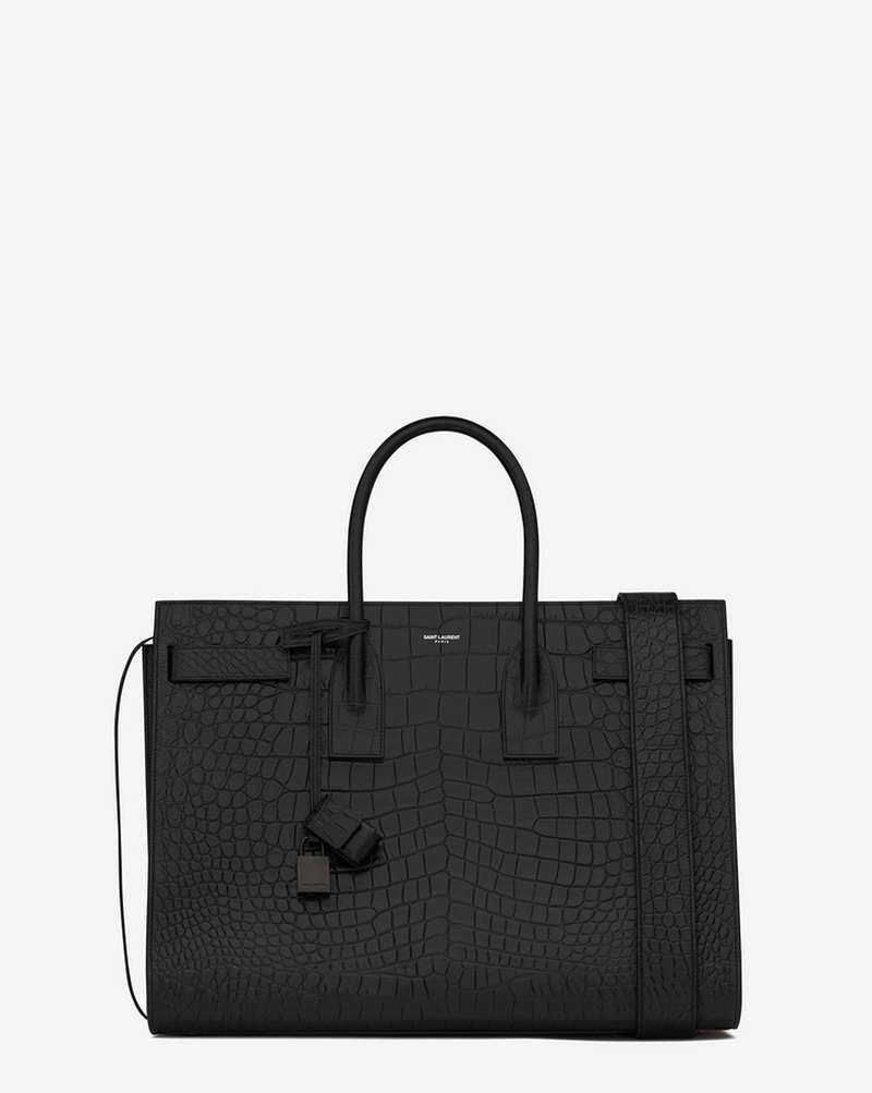 (HK MFW16 MACC) LARGE SAC DE JOUR CARRY ALL BAG IN BLACK CROCODILE EMBOSSED LEATHER (441571_CS38U_1000) HK$ 28,900