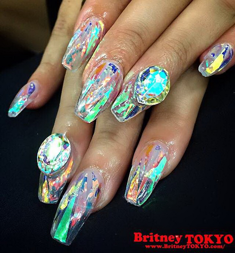 Crystal Shape Nail Art Photo Courtesy Of Britneytokyo