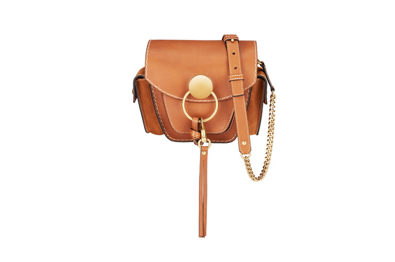 JODIE Small Camera Bag in Caramel Small Grain Calfskin & Suede Calfskin