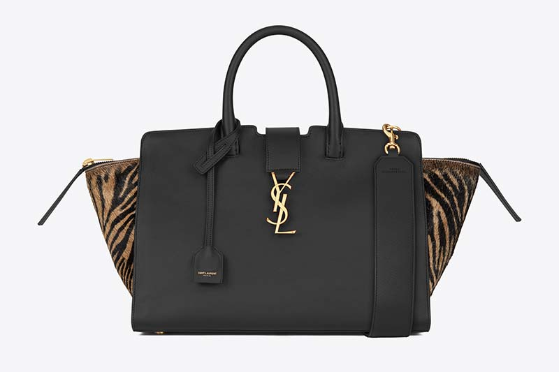 SMALL DOWNTOWN CABAS YSL MONOGRAM SAINT LAURENT IN BLACK LEATHER AND ZEBRA PRINTED HAIRY LEATHER WITH A LARGE LEATHER STRAP (436832_BJ5FW_1080) HK$16,500