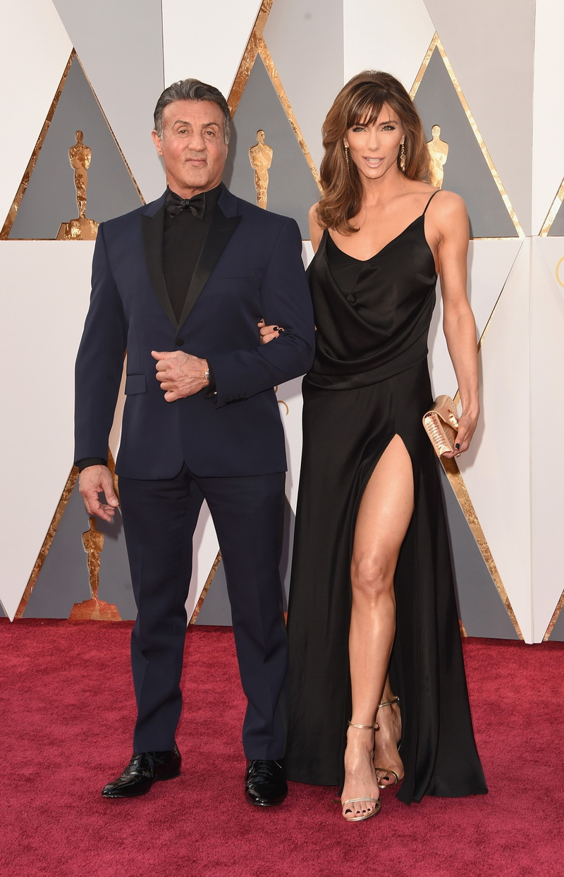 SYLVESTER STALLONE IN YVES SAINT LAURENT COUTURE 00016 JENNIFER STALLONE IN SAINT LAURENT