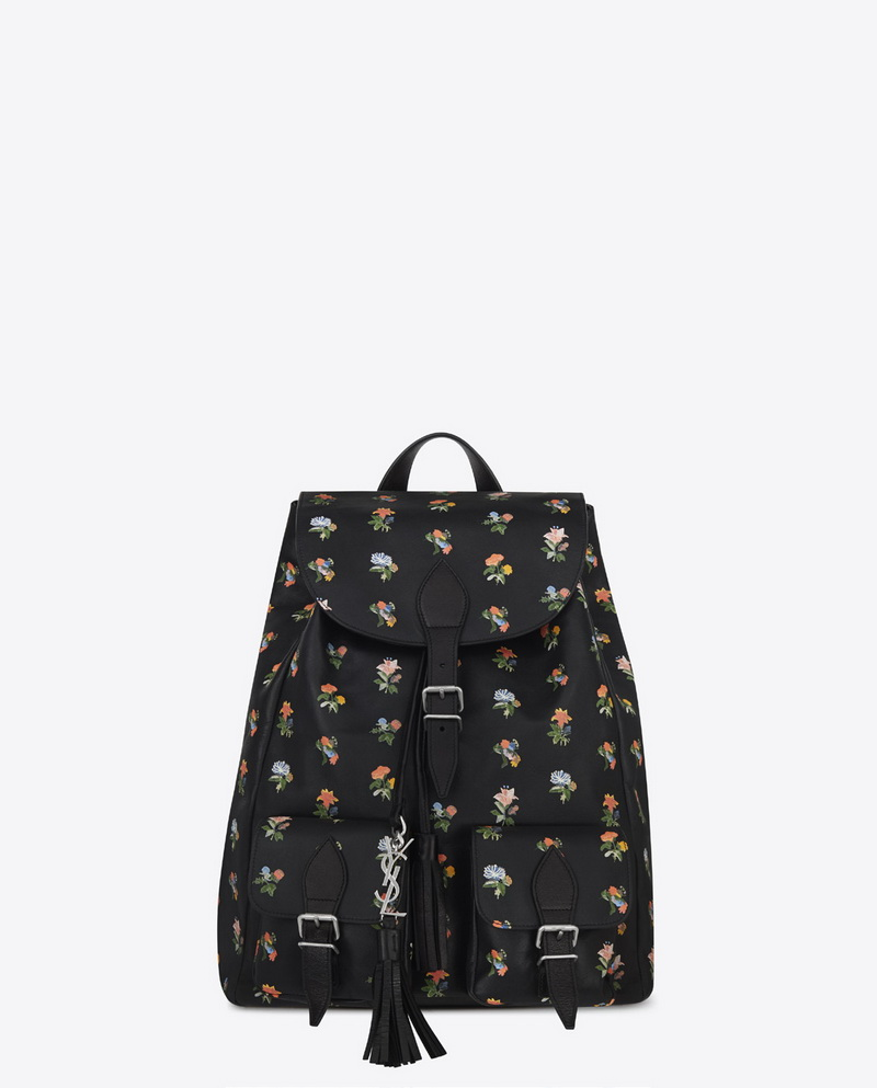 MEDIUM BACKPACK FESTIVAL IN PRAIRIE PRINTED LEATHER