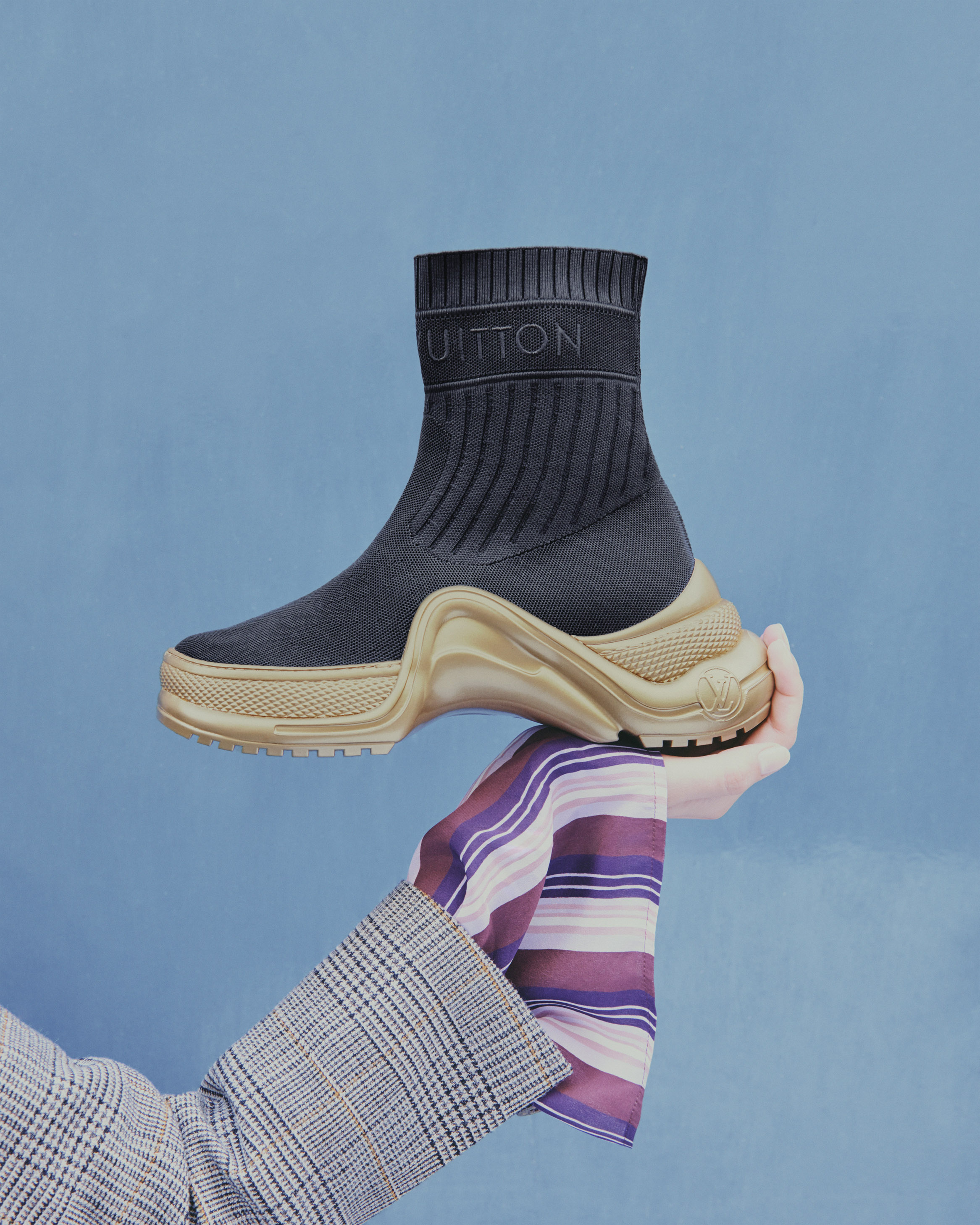 34e97ff70265 Sneaker boot Sock-like textile LV Archlight For the Louis Vuitton 2019  Cruise collection