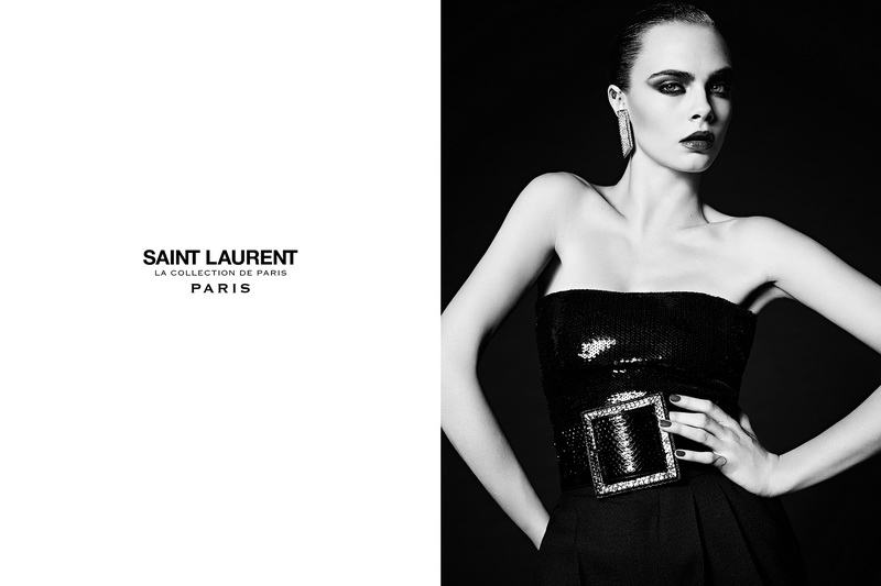 Saint Laurent la collection de Paris campaign featuring Cara Delevingne.
