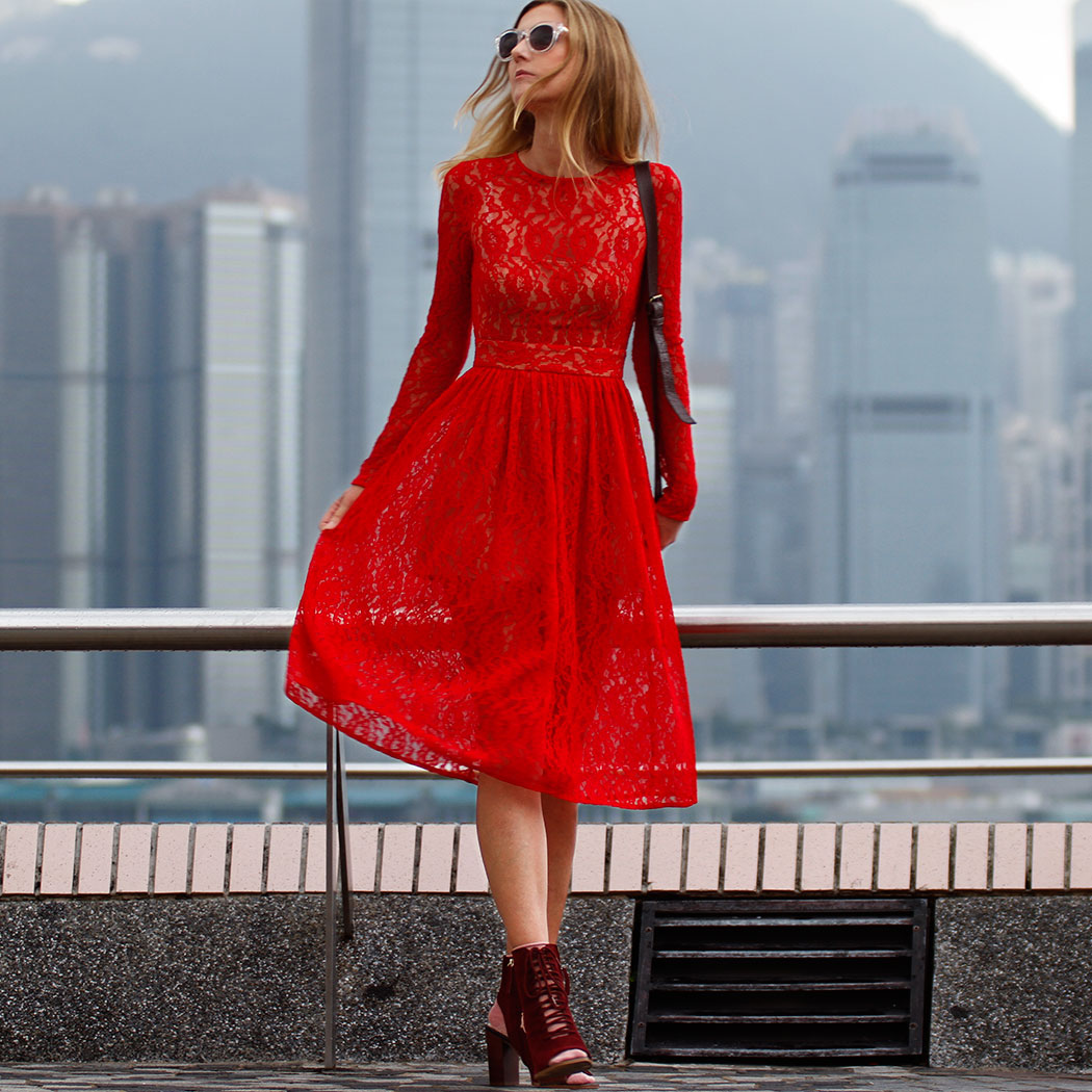 Model: Charlotte Mesman - Ph. Alessio Cristianini, dress: SAU, shoes and sunglasses: ZARA, fake fur pompon: TOPSHOP, bag: vintage