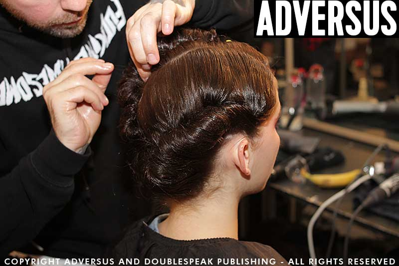 Romantic, sexy and classic hairdo's by James Pecis for Antonio Marras