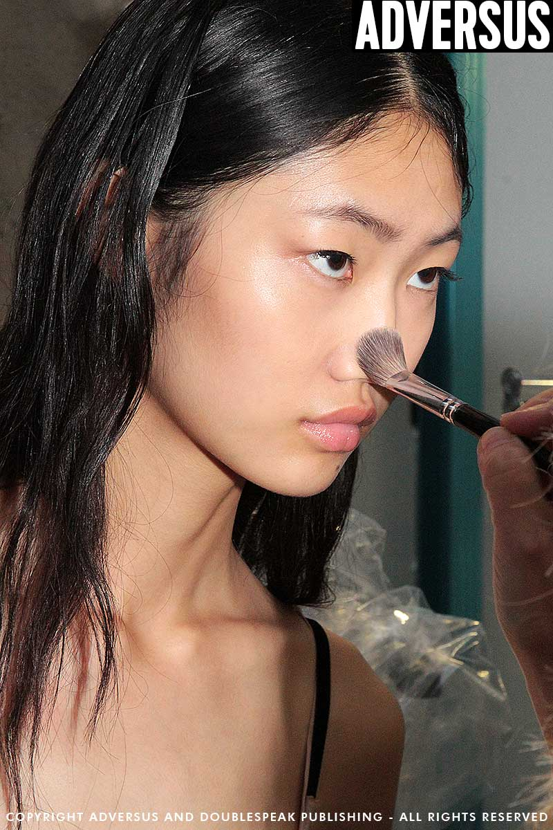Make-up. Catwalk skin