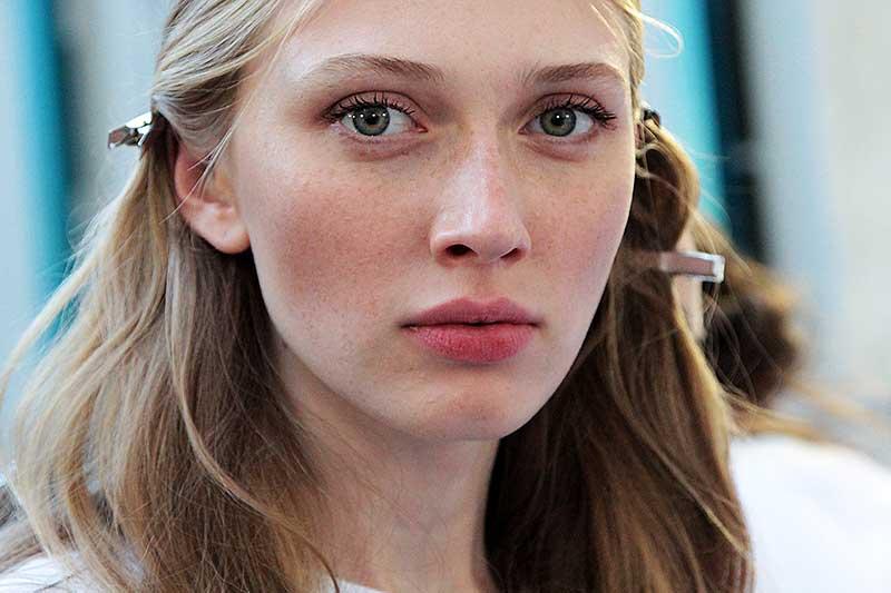 Make-up. Catwalk skin