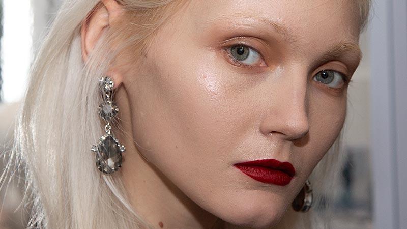 Make-up trends Fall Winter 2019 2020. Fashion Show: Luisa Beccaria. Make-up: Cynthia Di Meo. Photo: Charlotte Mesman