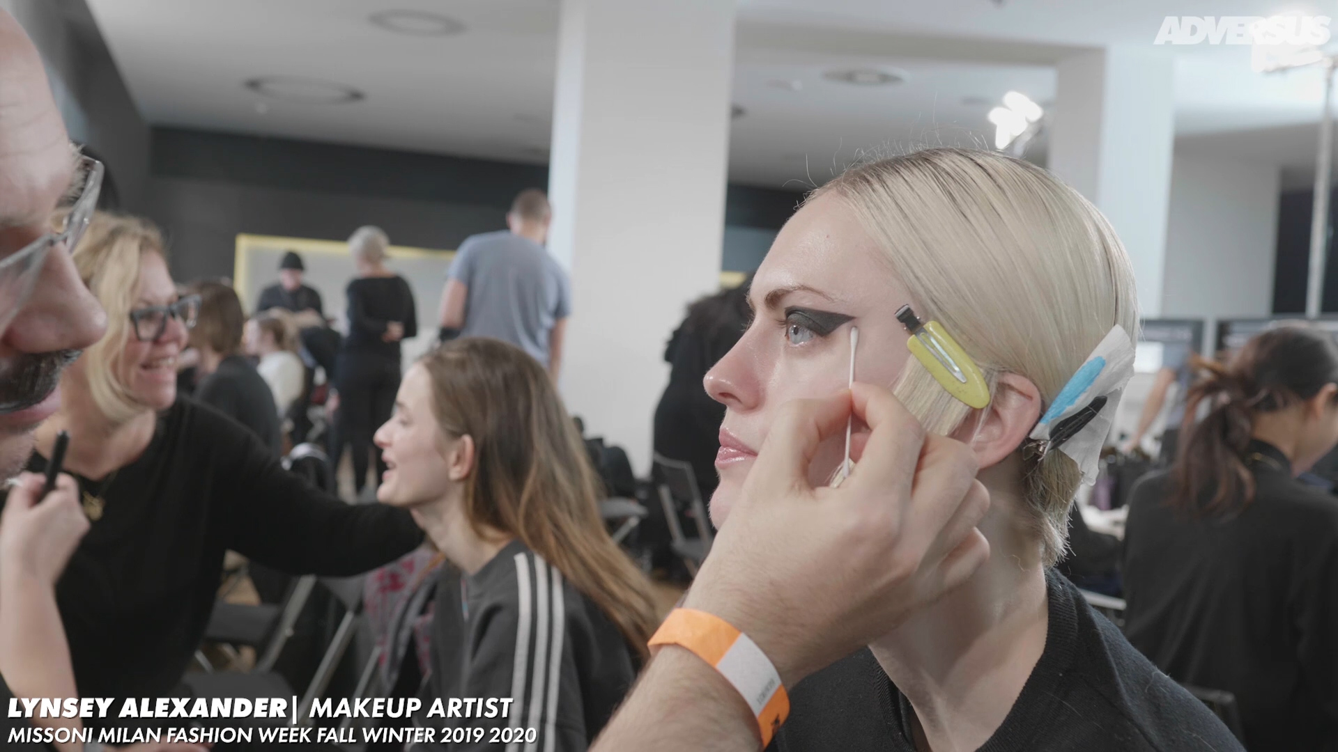 A strong, punk eyeliner for Missoni FW2019/20 with Lynsey Alexander