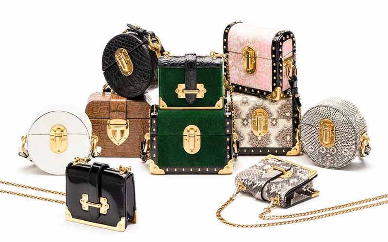 Prada Micro Box and Micro Cahier bags