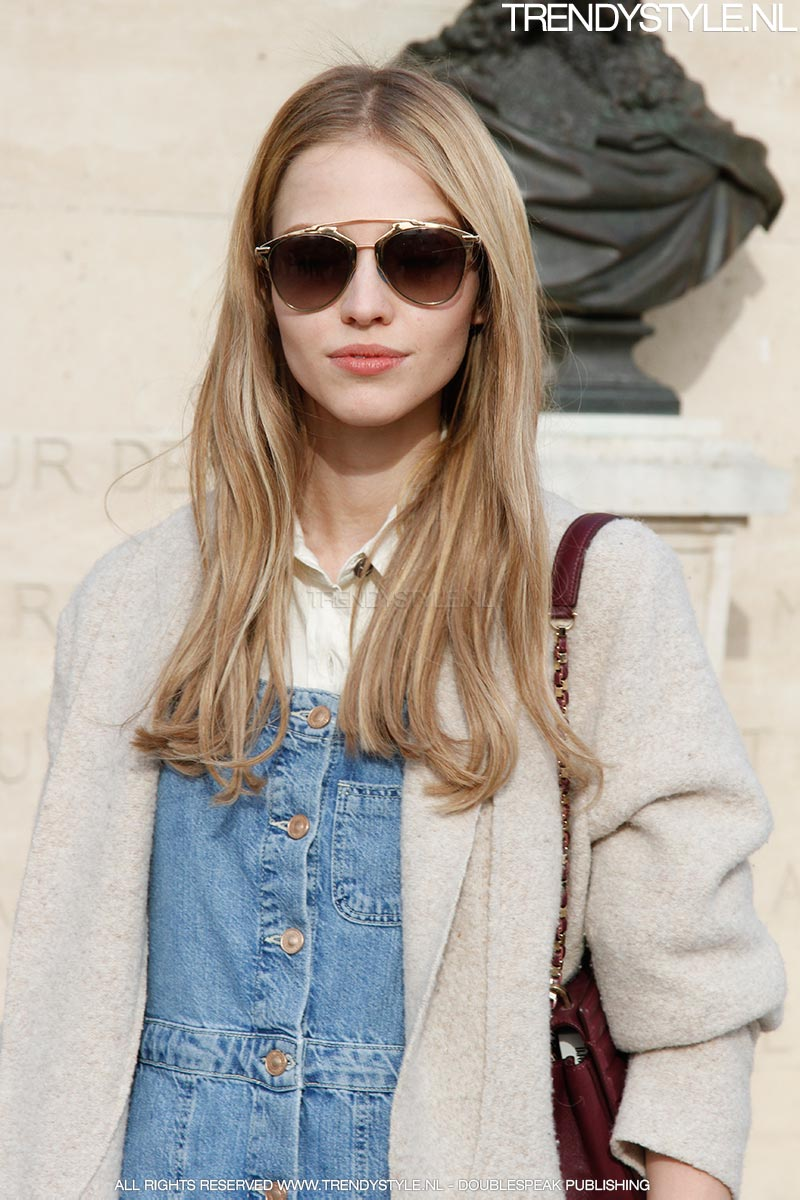 Sasha Luss top model in Paris for the camera of Trendystyle