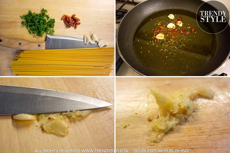 Spaghetti aglio olio e peperoncino, the Italian recipe