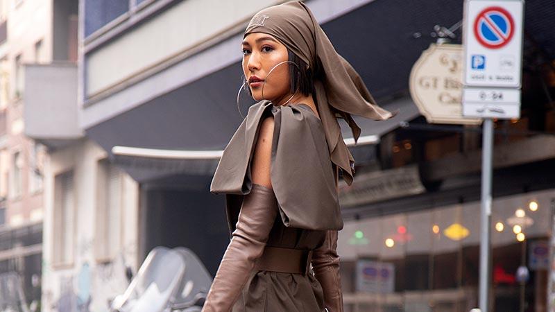 Street style at the Max Mara SS 2019 Fashion Show